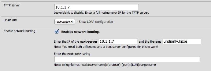 SmartOS iPXE boot with pfSense